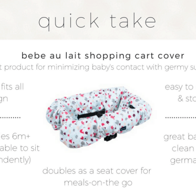 Why I Bought a Bebe Au Lait Shopping Cart Cover
