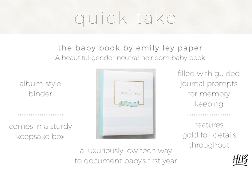 My review of The Baby Book by Emily Ley, an heirloom baby book for memory keeping.