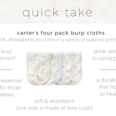 Carter's Burp Cloths Review