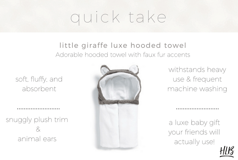 My review of the best hooded baby towel I could find, the Little Giraffe Luxe Hooded Towel.