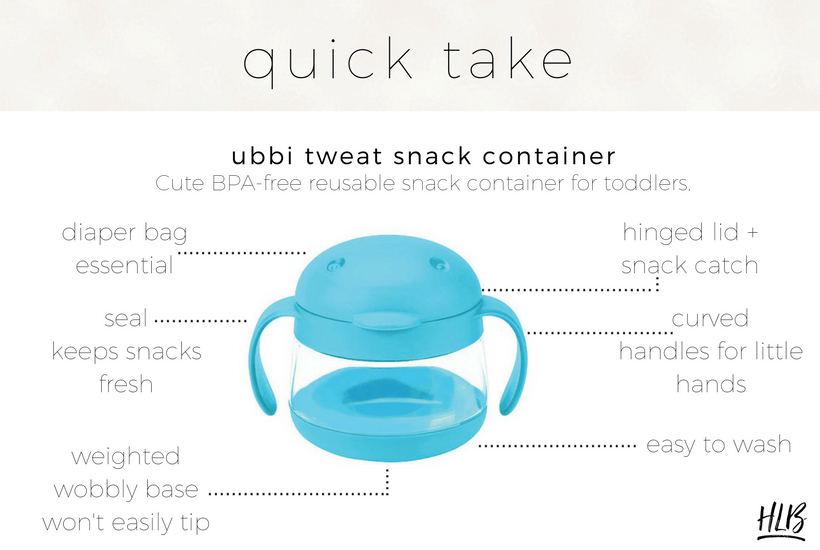 UBBI TWEAT REVIEW My review of my go to snack container for toddlers, the Ubbi Tweat snack container!