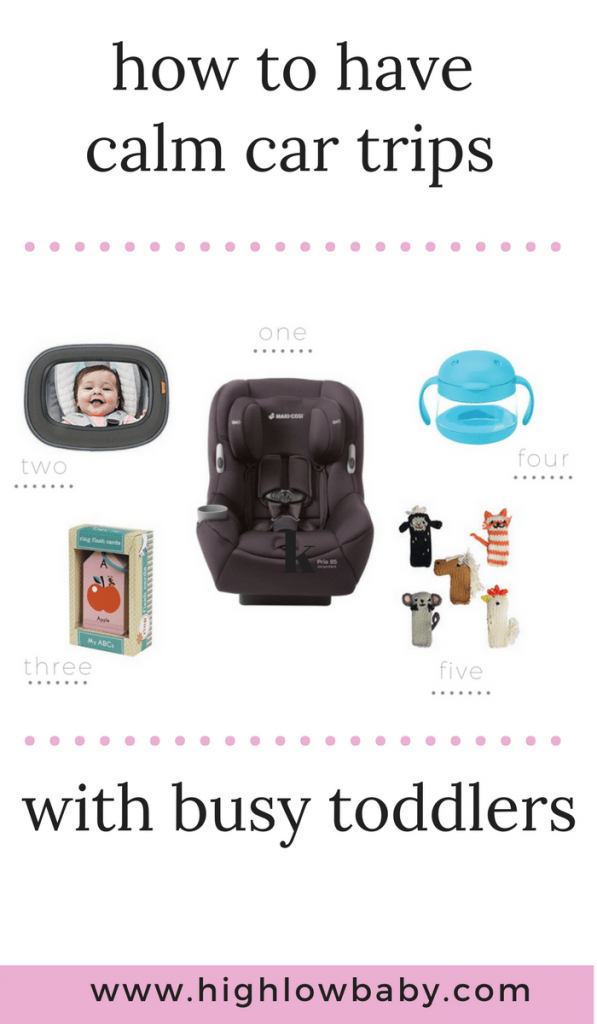 How to have calmer car trips with toddlers.