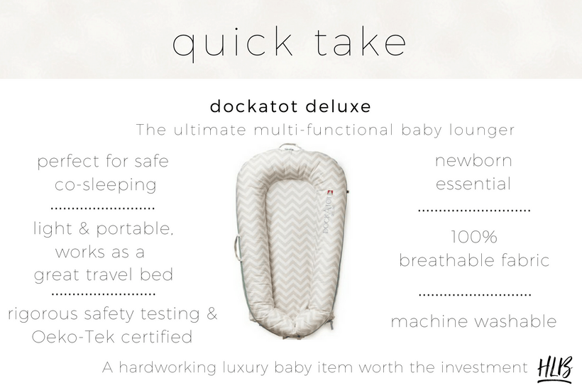 Read my detailed Dockatot review for why I consider this luxury baby item a newborn essential.