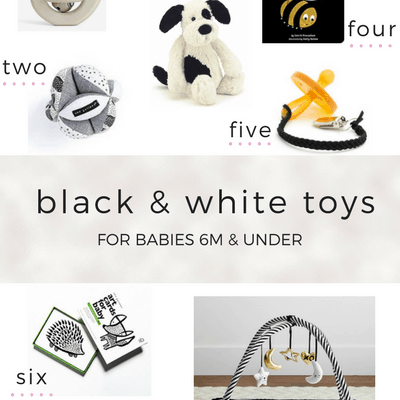 Black & White Toys for Babies Six Months and Under