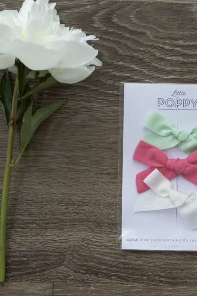 Little Poppy June bows! Read my review of this fun subscription service and check out this cute gelato-inspired color palette.