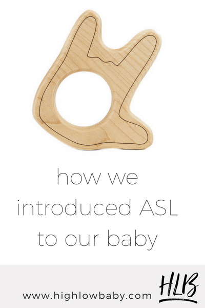ASL is an amazing tool for helping babies express themselves! We love baby signing! Read about how we introduced ASL to our baby.