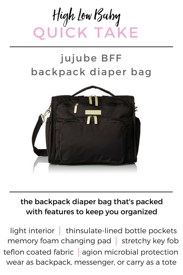 Ju Ju Be BFF backpack diaper bag review | stylish backpack diaper bag | best backpack diaper bag