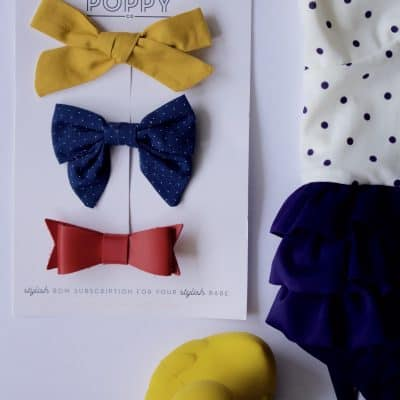 Little Poppy Bow Subscription: July Bows