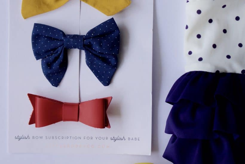 bow collection | little poppy co. july bows review by high low baby