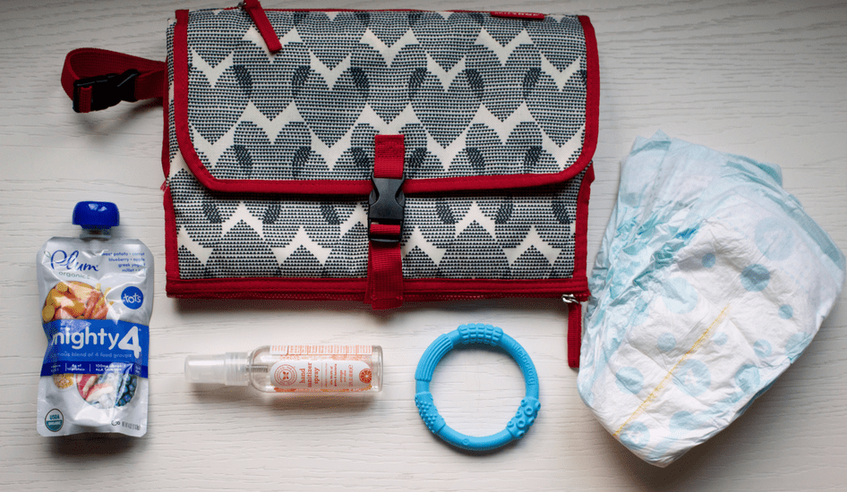If you're looking for a diaper bag for dad, read my review of the Skip Hop Pronto Signature Changing Station, a diaper clutch that's a great alternative diaper bag.