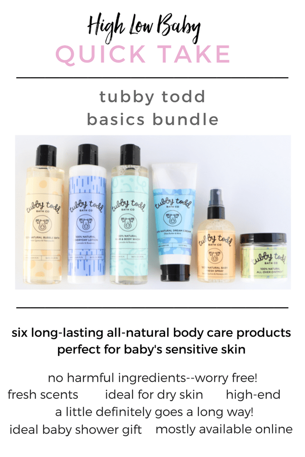 HONEST TUBBY TODD REVIEW | Safe products for baby's sensitive skin, using all-natural ingredients. Read my honest Tubby Todd basics bundle review, which makes a great baby shower gift!