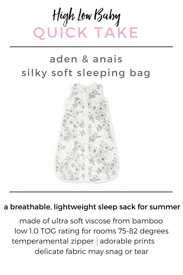 Sleepwear | My review of the Aden & Anais Silky Soft Sleeping Bag, which is my favorite sleep sack for the summer months and warmer climates.