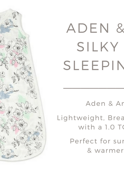 My review of the Aden & Anais Silky Soft Sleeping Bag, a perfect sleep sack for summer months and warmer climates!