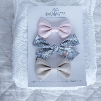 Little Poppy Bow Subscription: August Bows