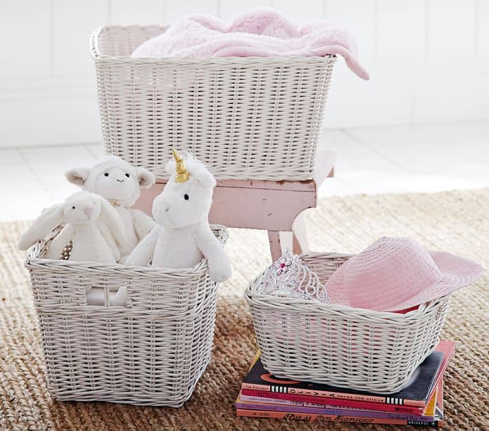 5 Secrets for Saving at Pottery Barn Kids | Sabrina Baskets | High Low Baby