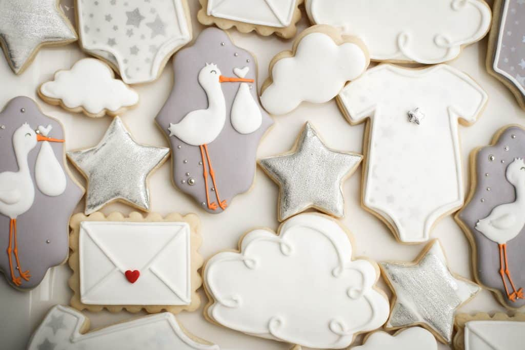 Tangled with Tinkering Stork Cookies