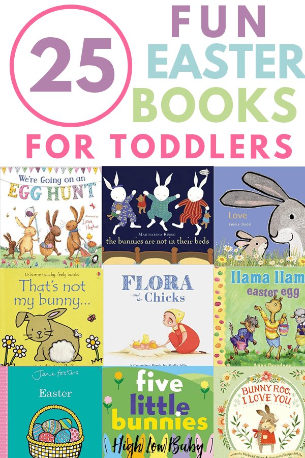 Complete your toddler's Easter basket with one of these fun Easter books! I've found cute boards books, classic picture books, and more Easter gift ideas for babies, todders, and preschoolers #easter, #easterbaskets, #easterbooks